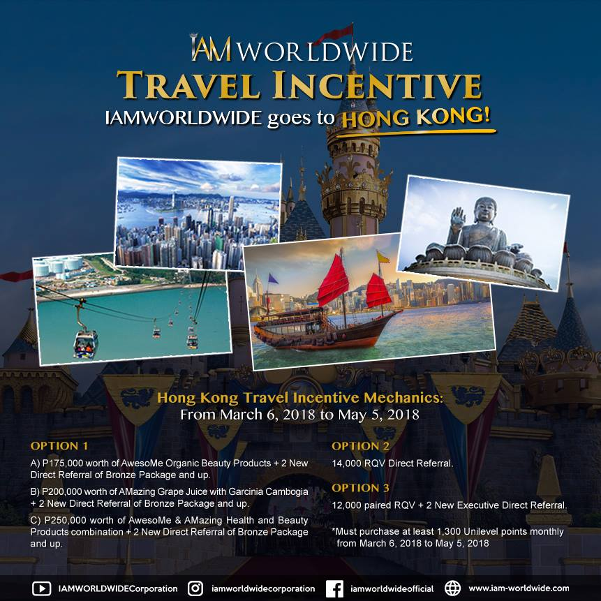 IAM Worldwide Hong Kong Travel Incentive